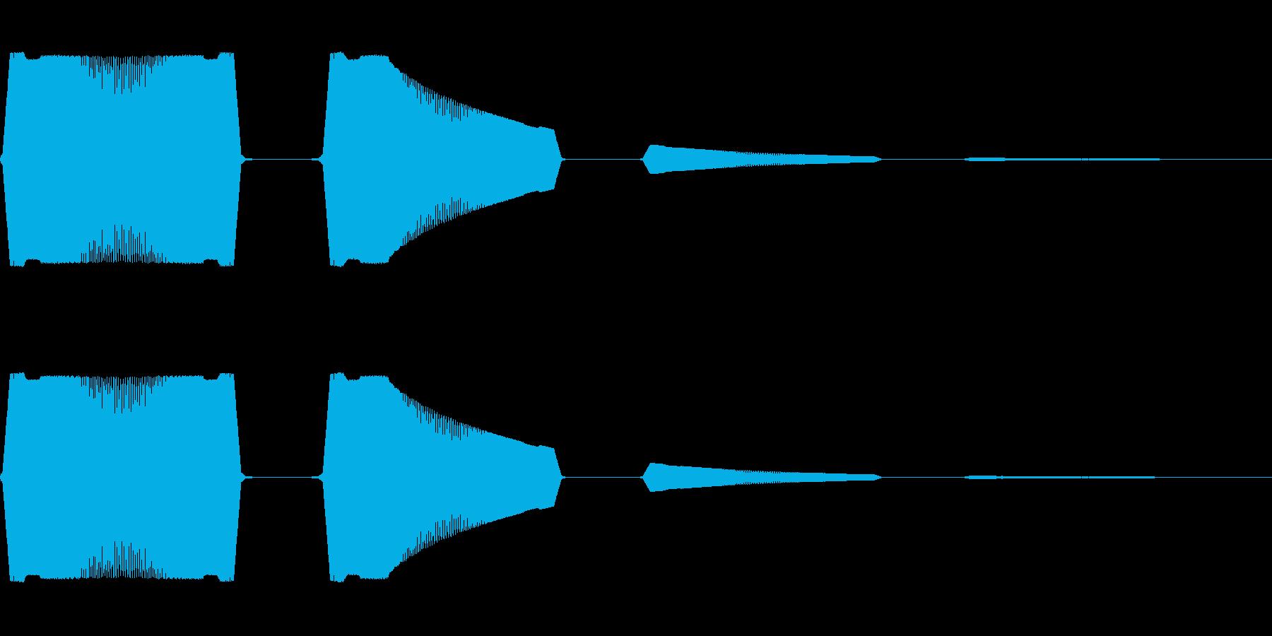 ボヨヨンと柔らかいものが揺れる05の再生済みの波形