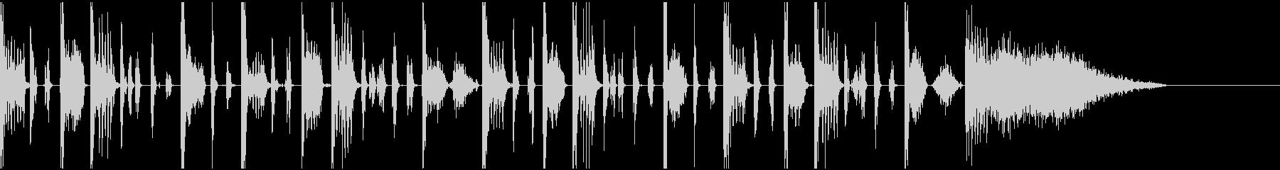 ヒューマンビートボックスのジングルの未再生の波形