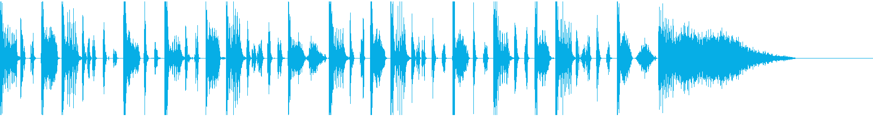 ヒューマンビートボックスのジングルの再生済みの波形