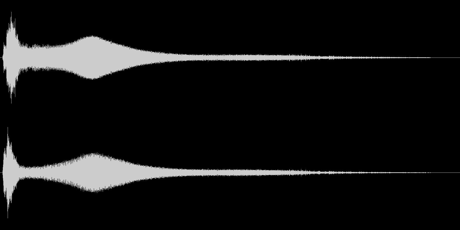 キーン(エレベーターが開いた時の音)の未再生の波形