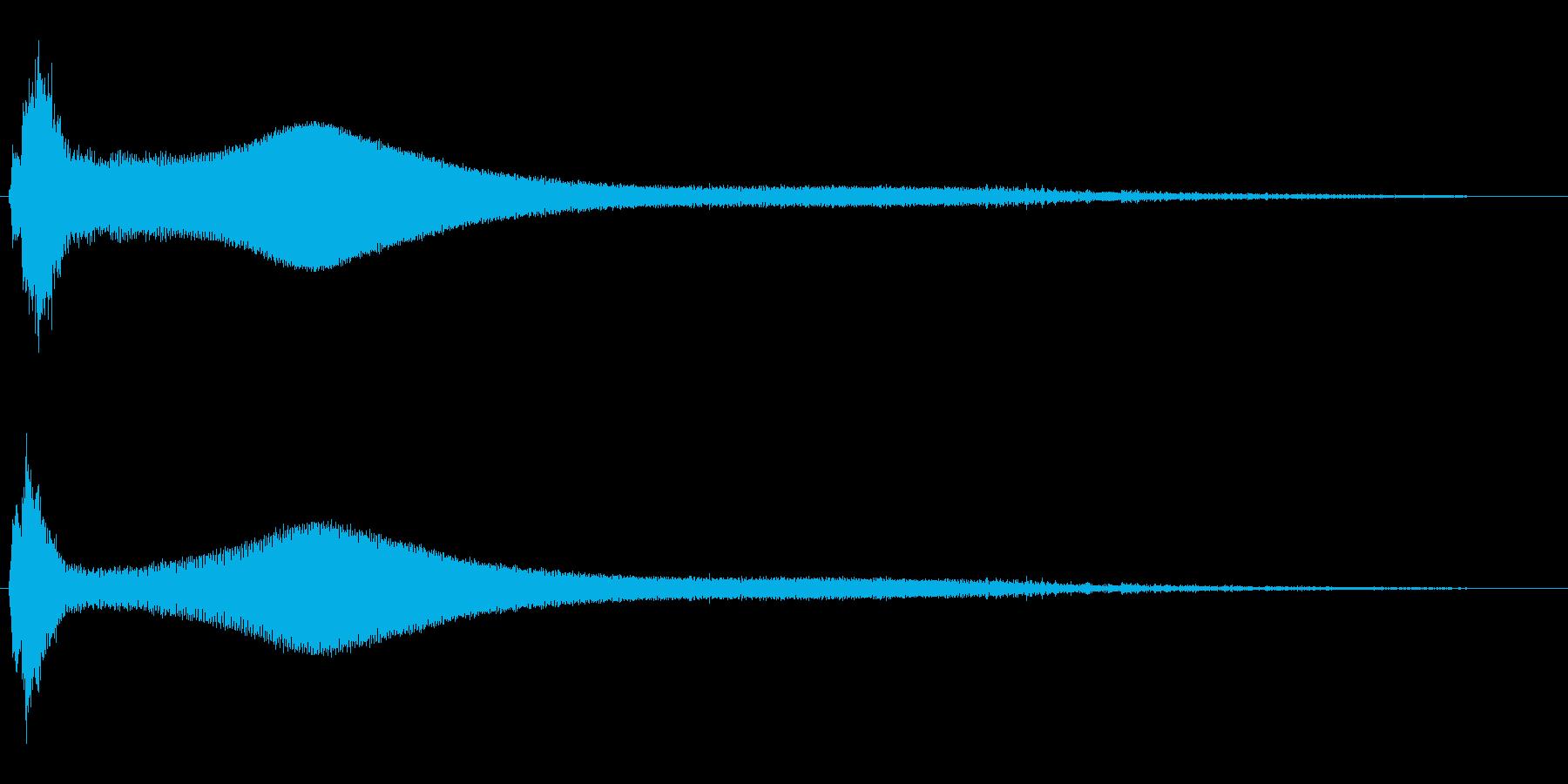 キーン(エレベーターが開いた時の音)の再生済みの波形