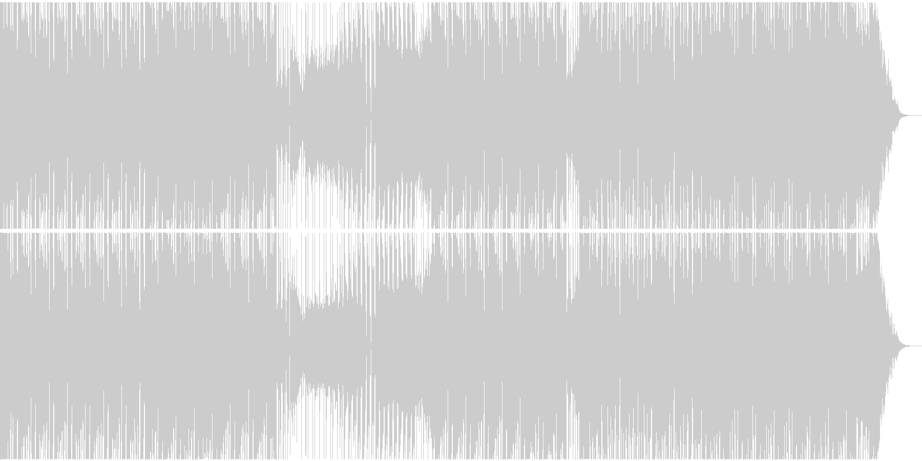 エモーショナルなトランスBGMの未再生の波形