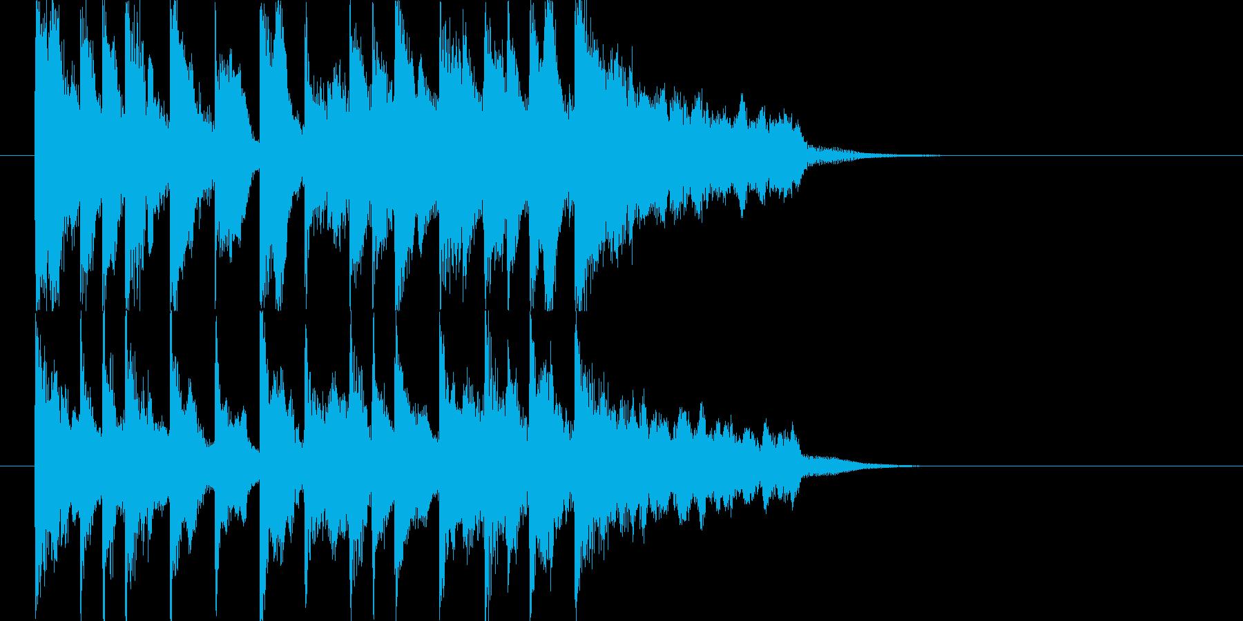 場面切り替え等 ほのぼのジングル和楽J6の再生済みの波形