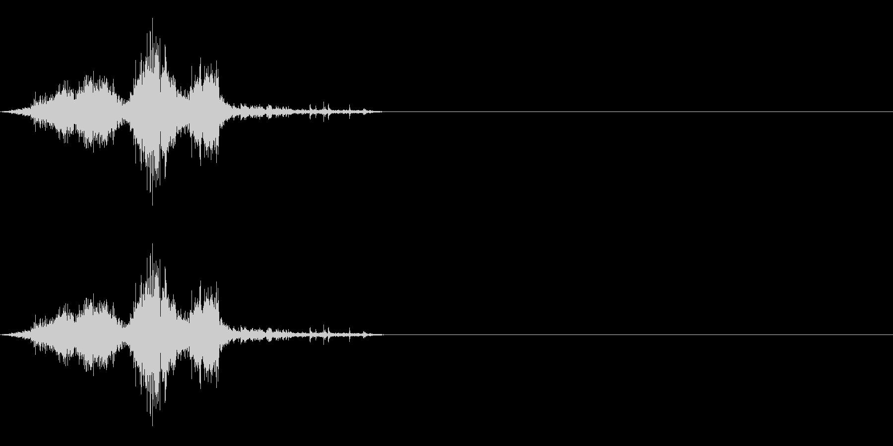 ザシュ!斬撃 刀で切った音 その5の未再生の波形