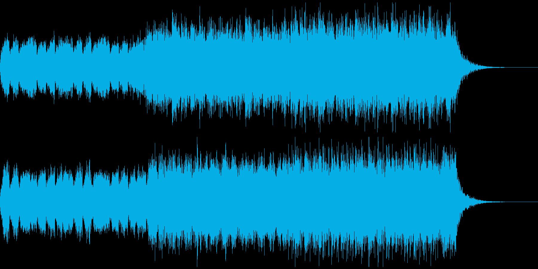 始まりを感じさせるストリングス系BGMの再生済みの波形