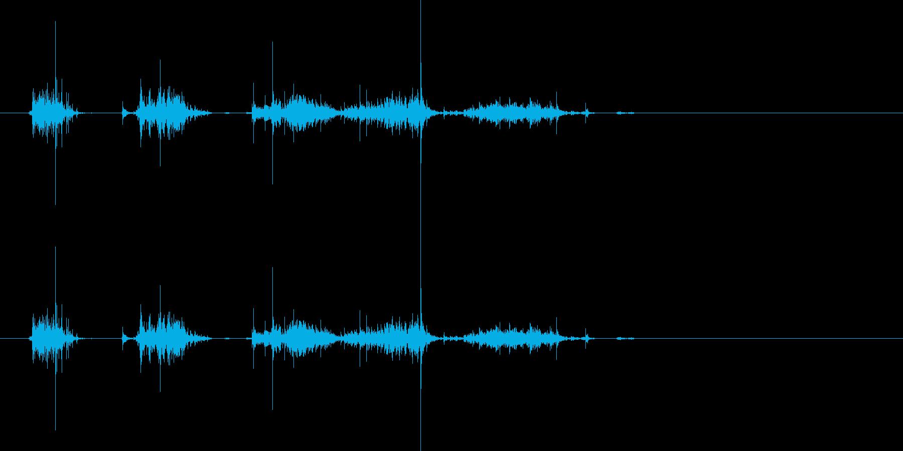 紙を破る7の再生済みの波形