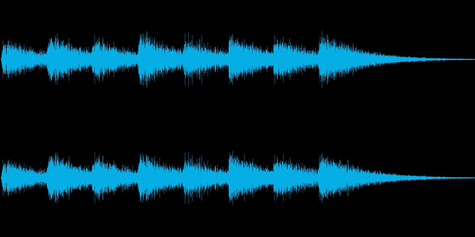 息づかい(ハイ スピード)の再生済みの波形
