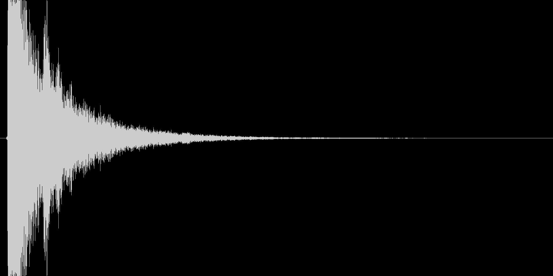 カキーン(氷魔法、ぶつける、ダメージ)の未再生の波形