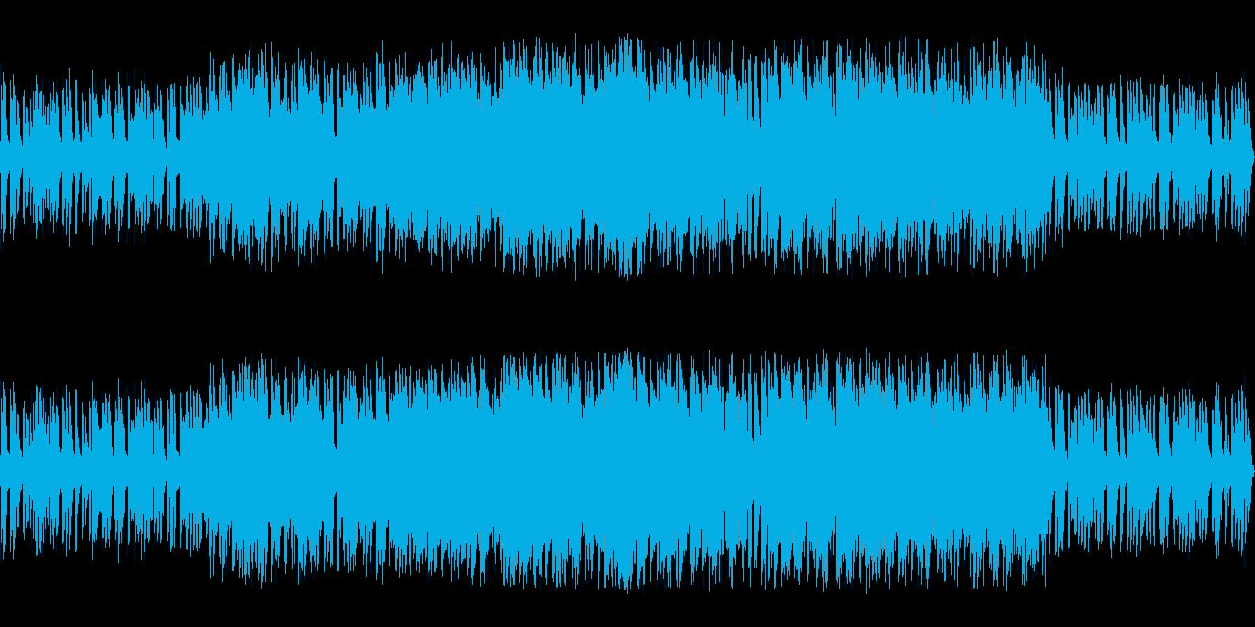 アクションゲームの渋めなチップチューンの再生済みの波形