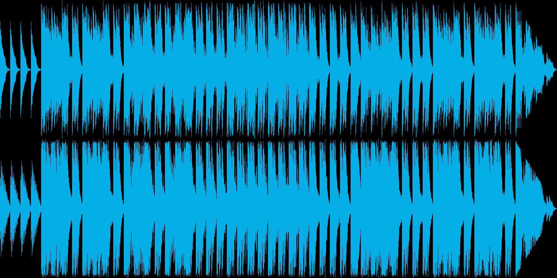 ベルを使った幻想的な曲の再生済みの波形