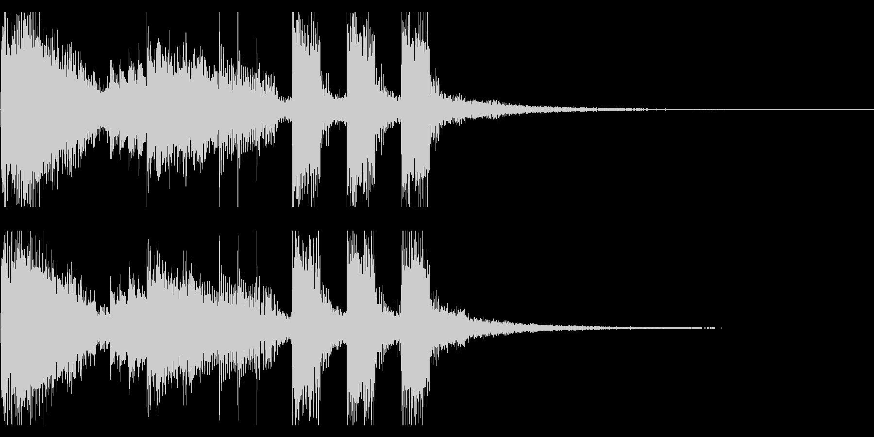 ステージクリア・ファンファーレ・バンド風の未再生の波形