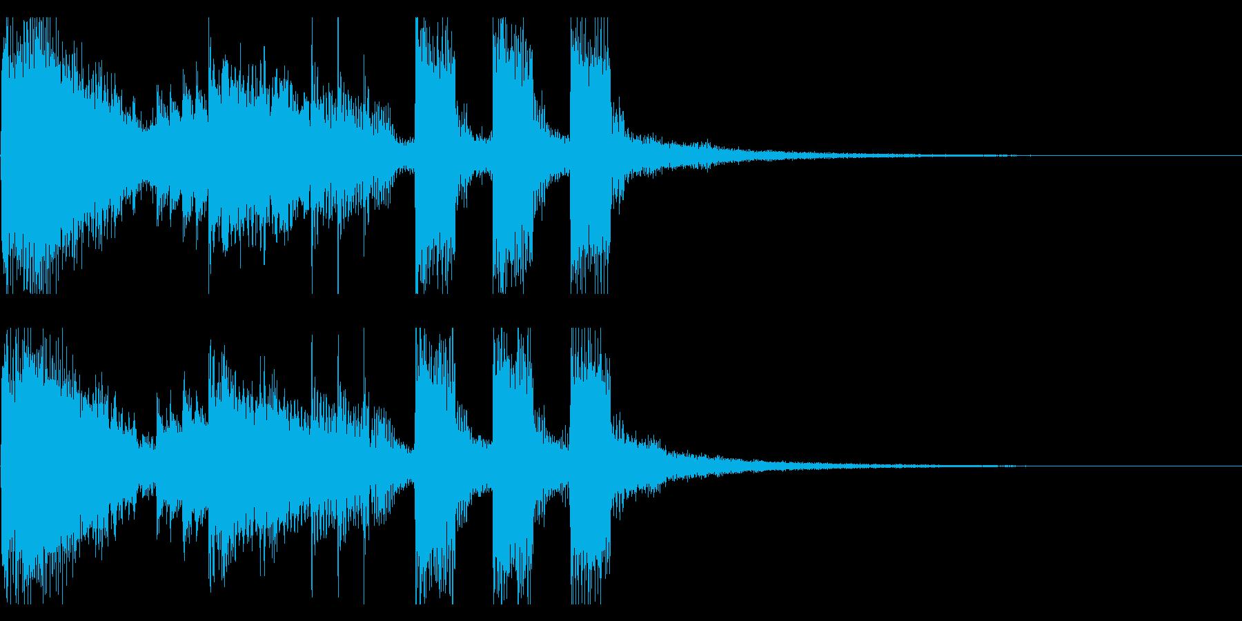 ステージクリア・ファンファーレ・バンド風の再生済みの波形