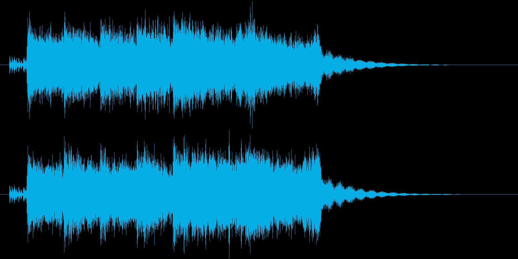 程よく壮大な勝利のファンファーレの再生済みの波形