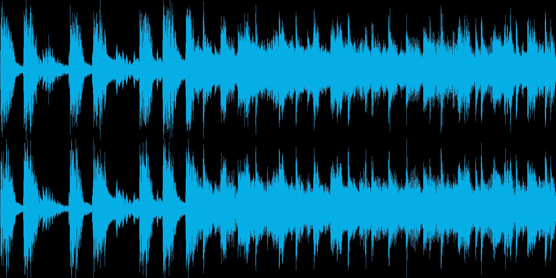 印象に残るロックジングル_ループの再生済みの波形