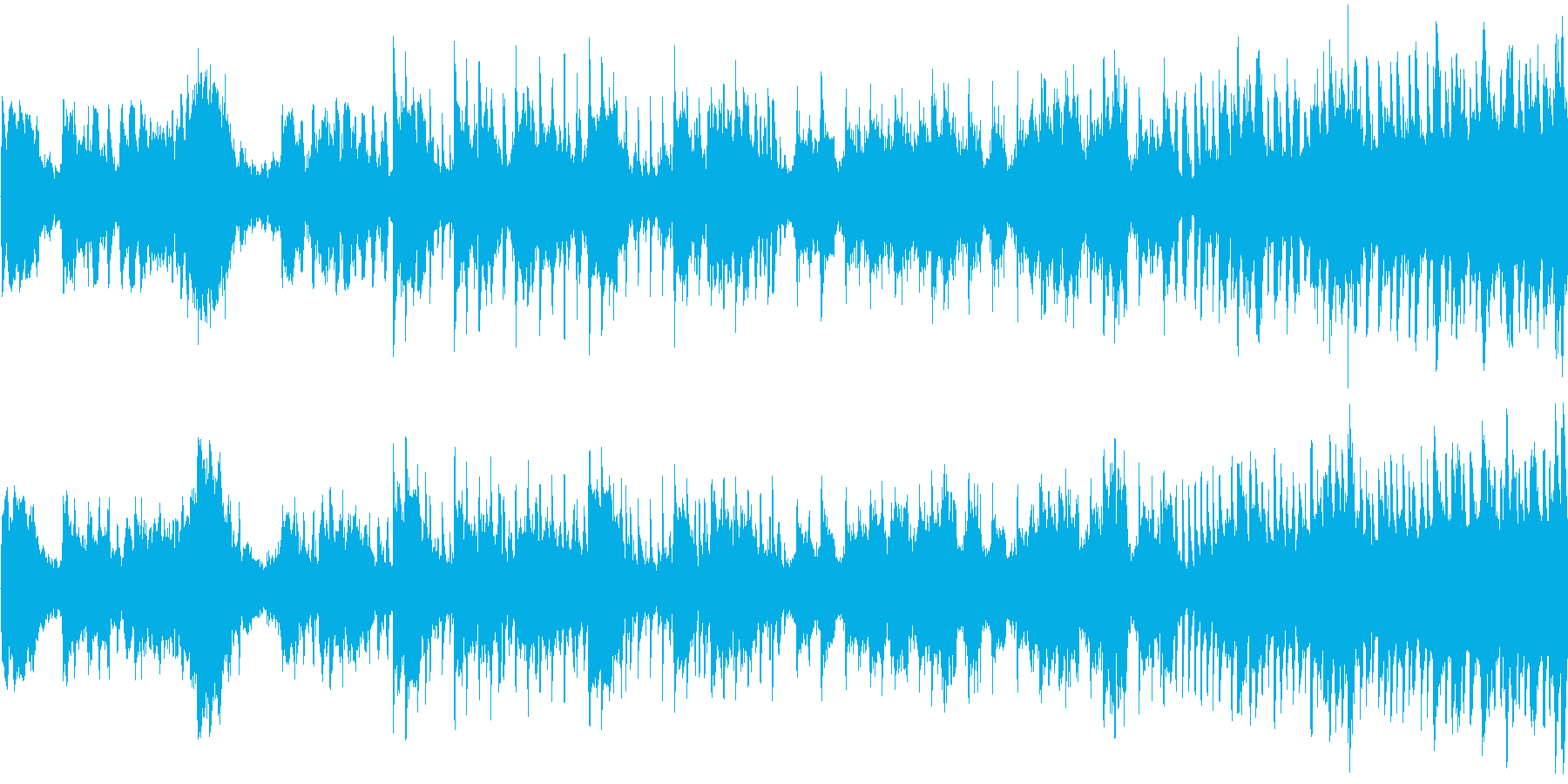 転落するようなサスペンス感のあるテクノの再生済みの波形