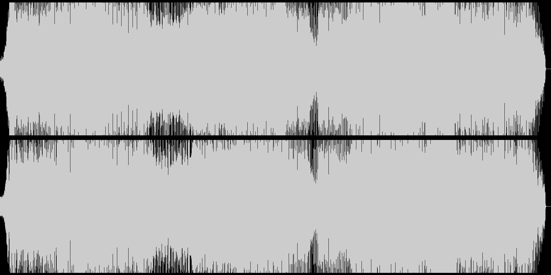 何かの始まりを予感させるEDMの未再生の波形