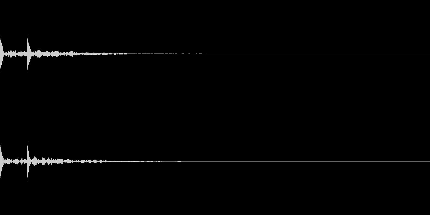 クラベス(拍子木のような)が2回鳴りますの未再生の波形