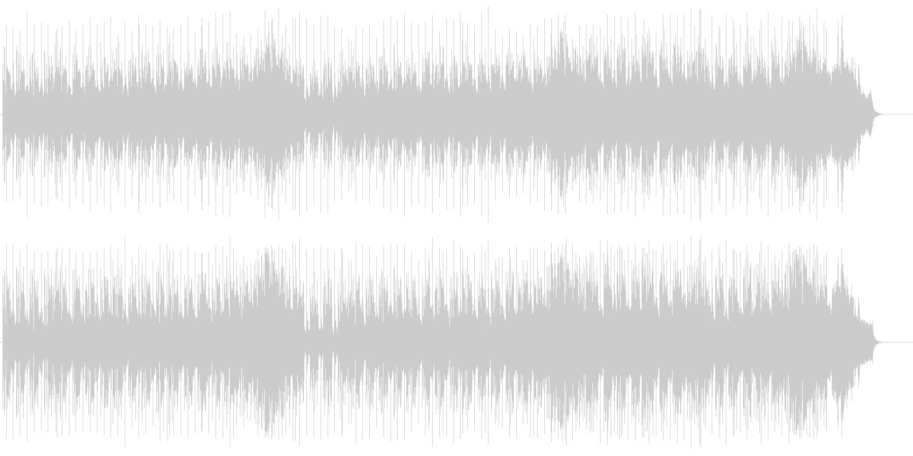 スリムでタイトなクール・アコースティックの未再生の波形