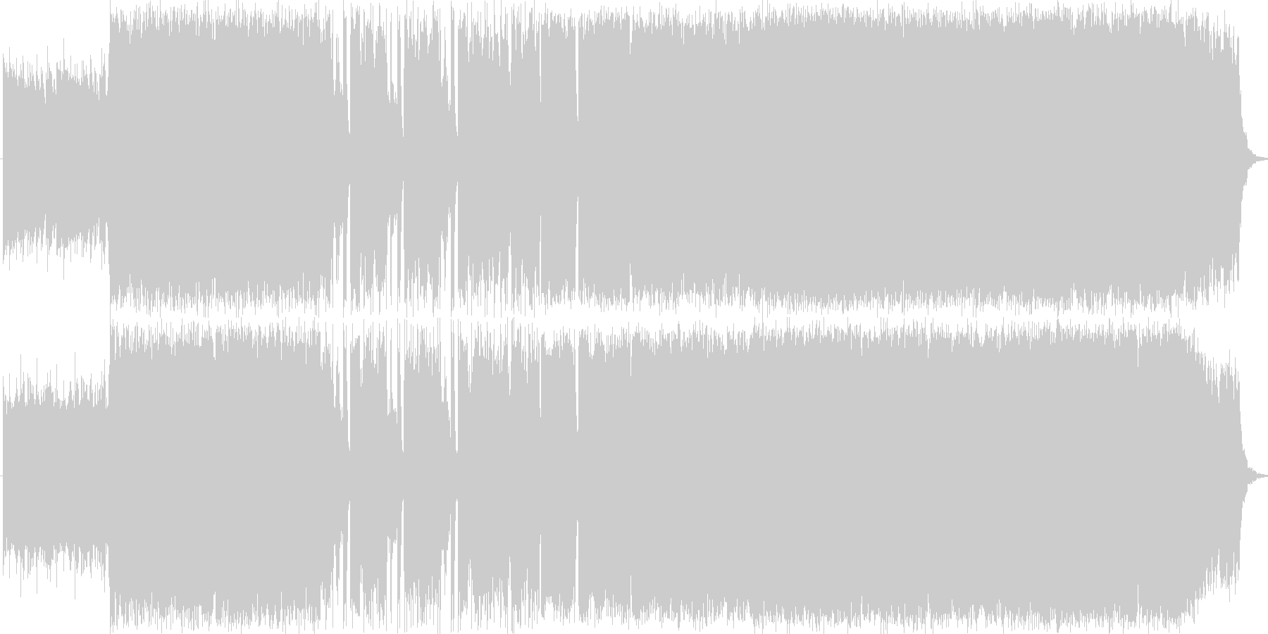 明るいエレクトロポップの未再生の波形