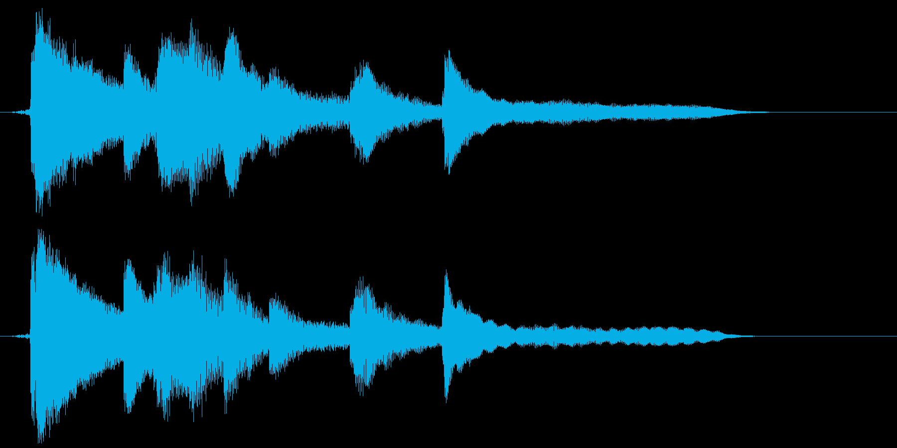 ピアノソロのやさしいジングルです。の再生済みの波形