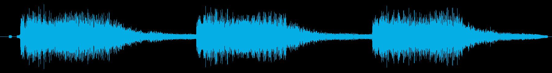 注意、警告音、警報の効果音です!02の再生済みの波形