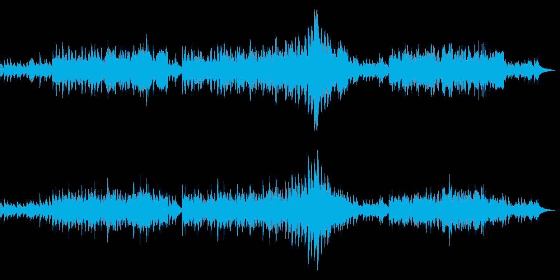 ケルト アイリッシュ ピアノと笛 優美 の再生済みの波形