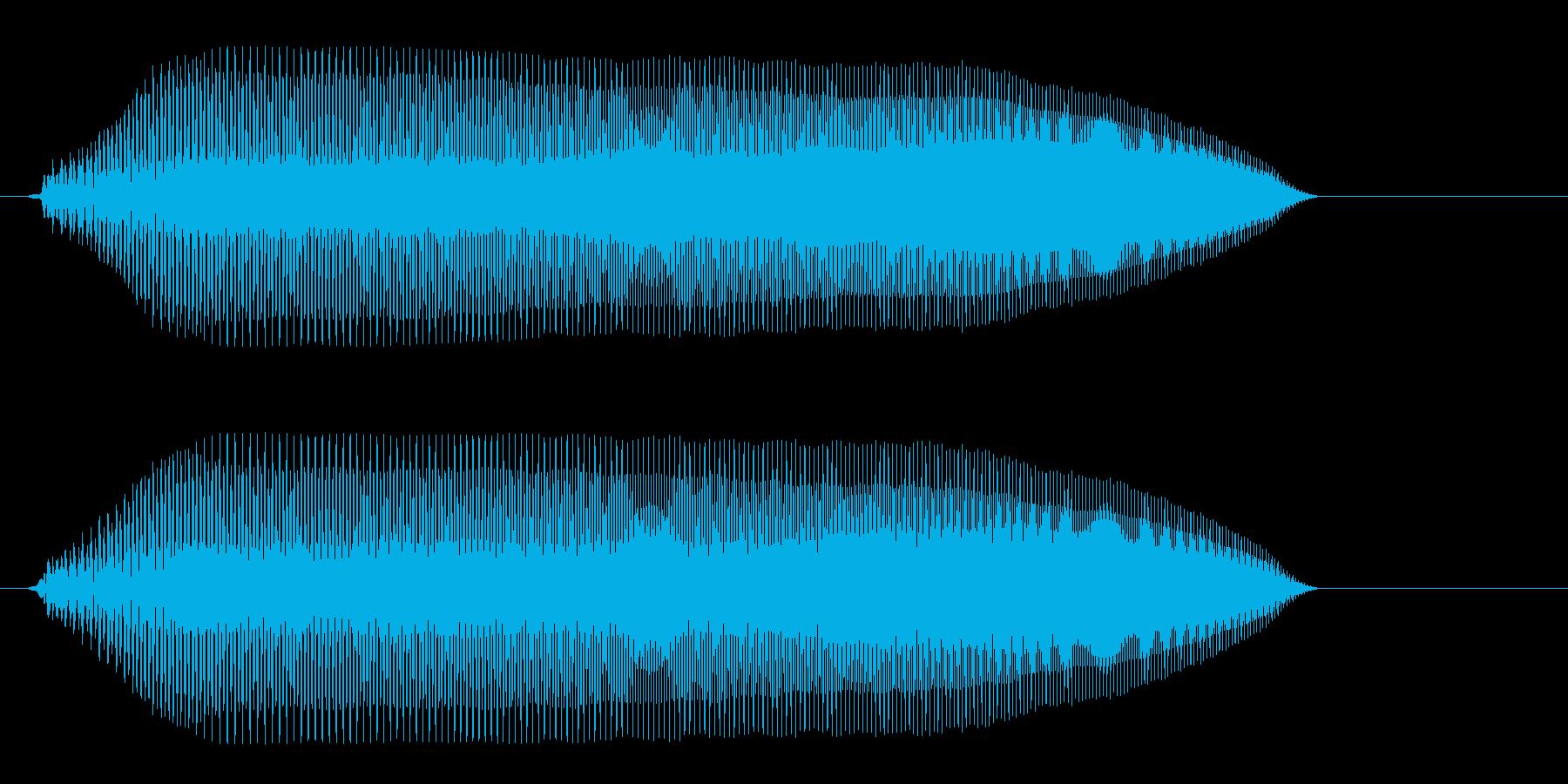 プゥゥ〜(注意喚起や緊張感を出す決定音)の再生済みの波形