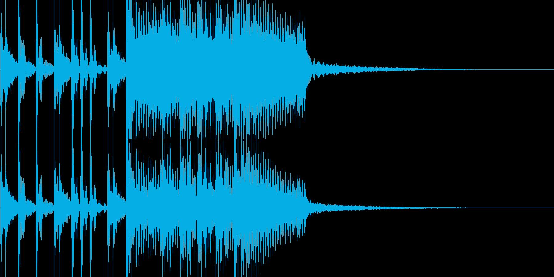 ゲームバトルのロック系ジングルの再生済みの波形