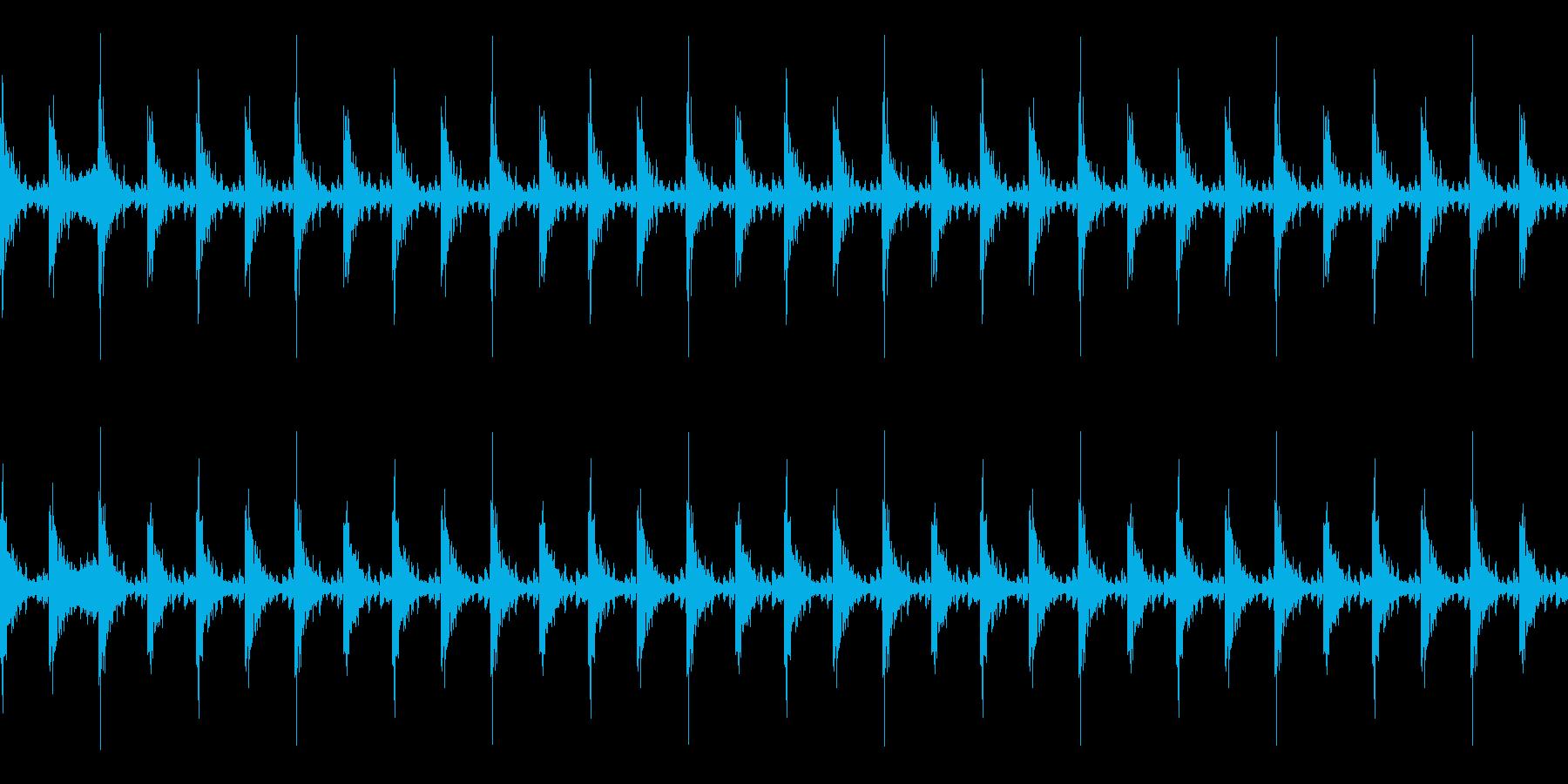 太鼓 躍動的 迫力 効果音ループ素材#1の再生済みの波形