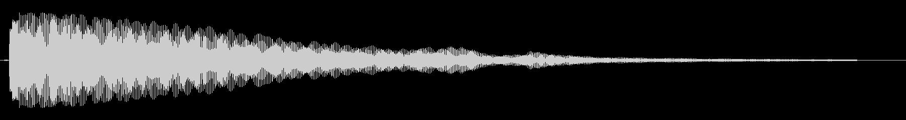 キワァ〜ン(複数の重なり音)の未再生の波形