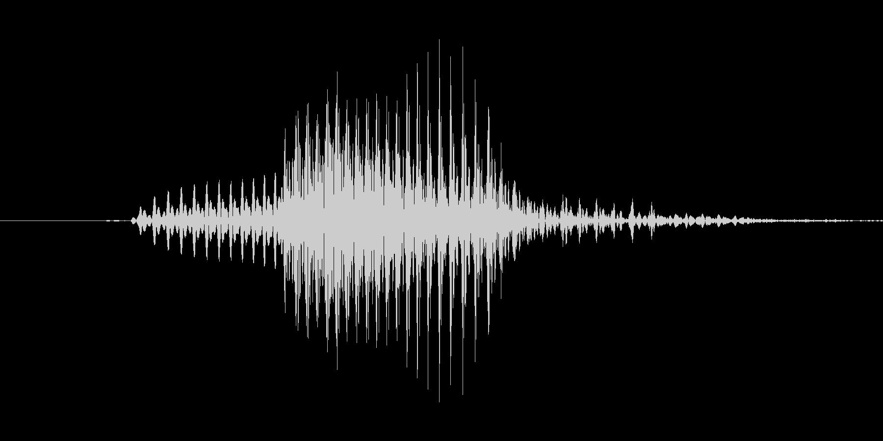 「May」英語発音の未再生の波形
