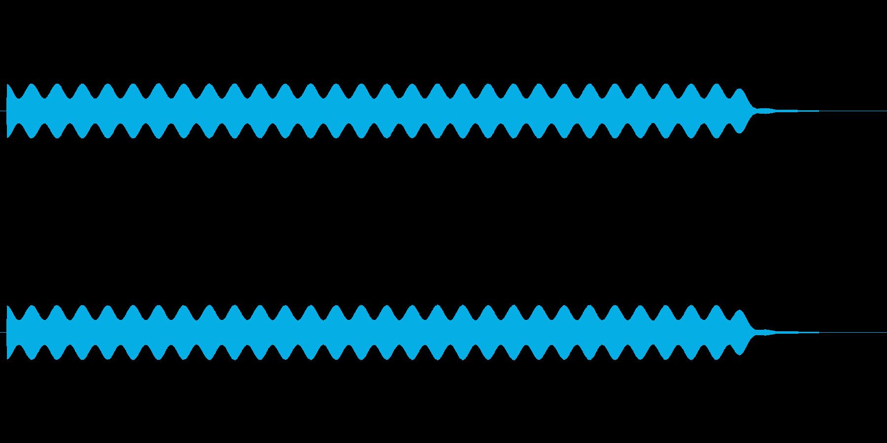 【場面効果音17-3】の再生済みの波形