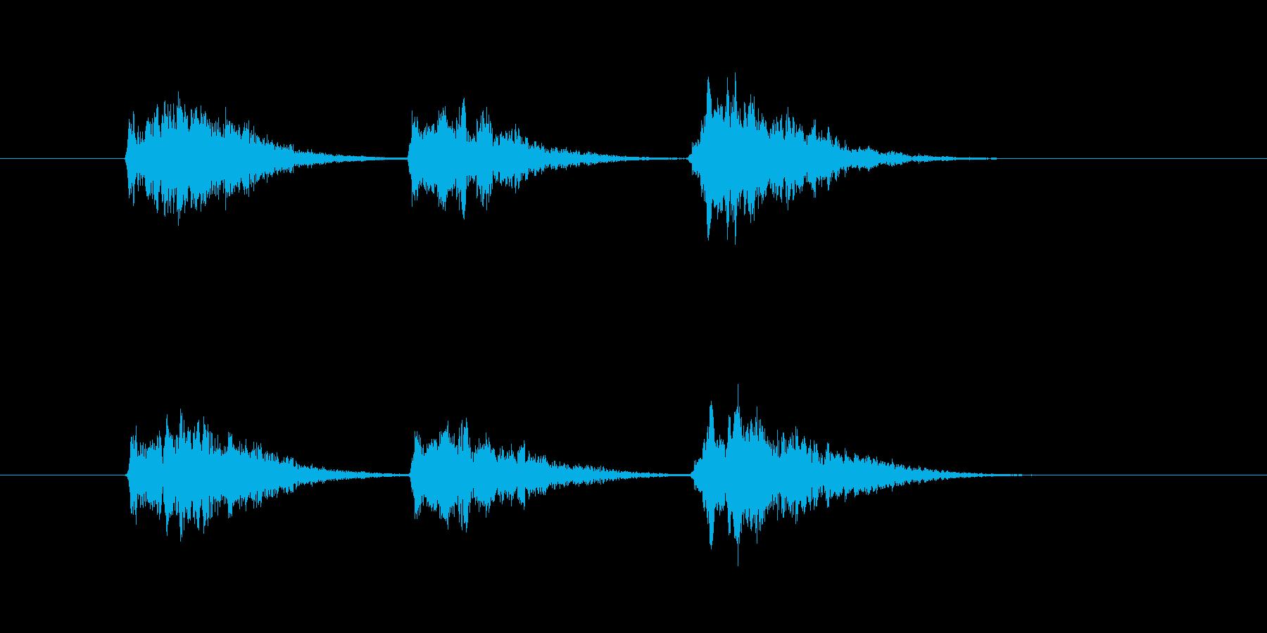 ゲーム等、開始前カウント(3-2-1)Dの再生済みの波形