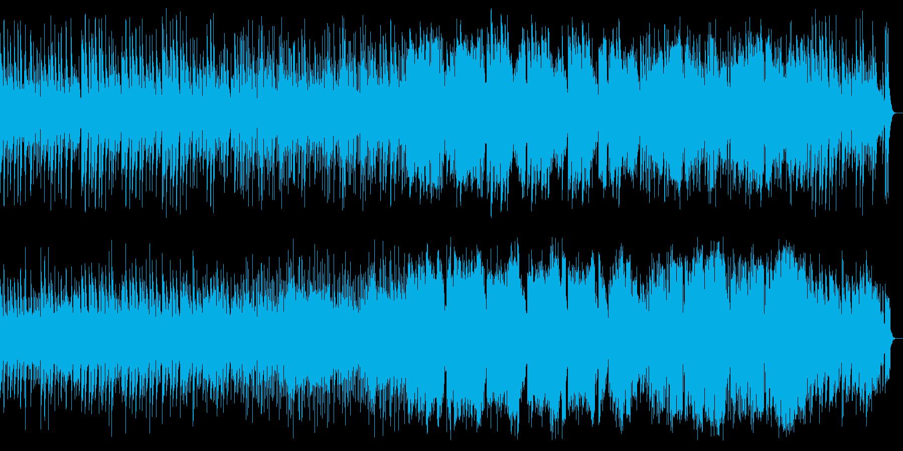 弾ける感じの明るくメロディアスな楽曲の再生済みの波形