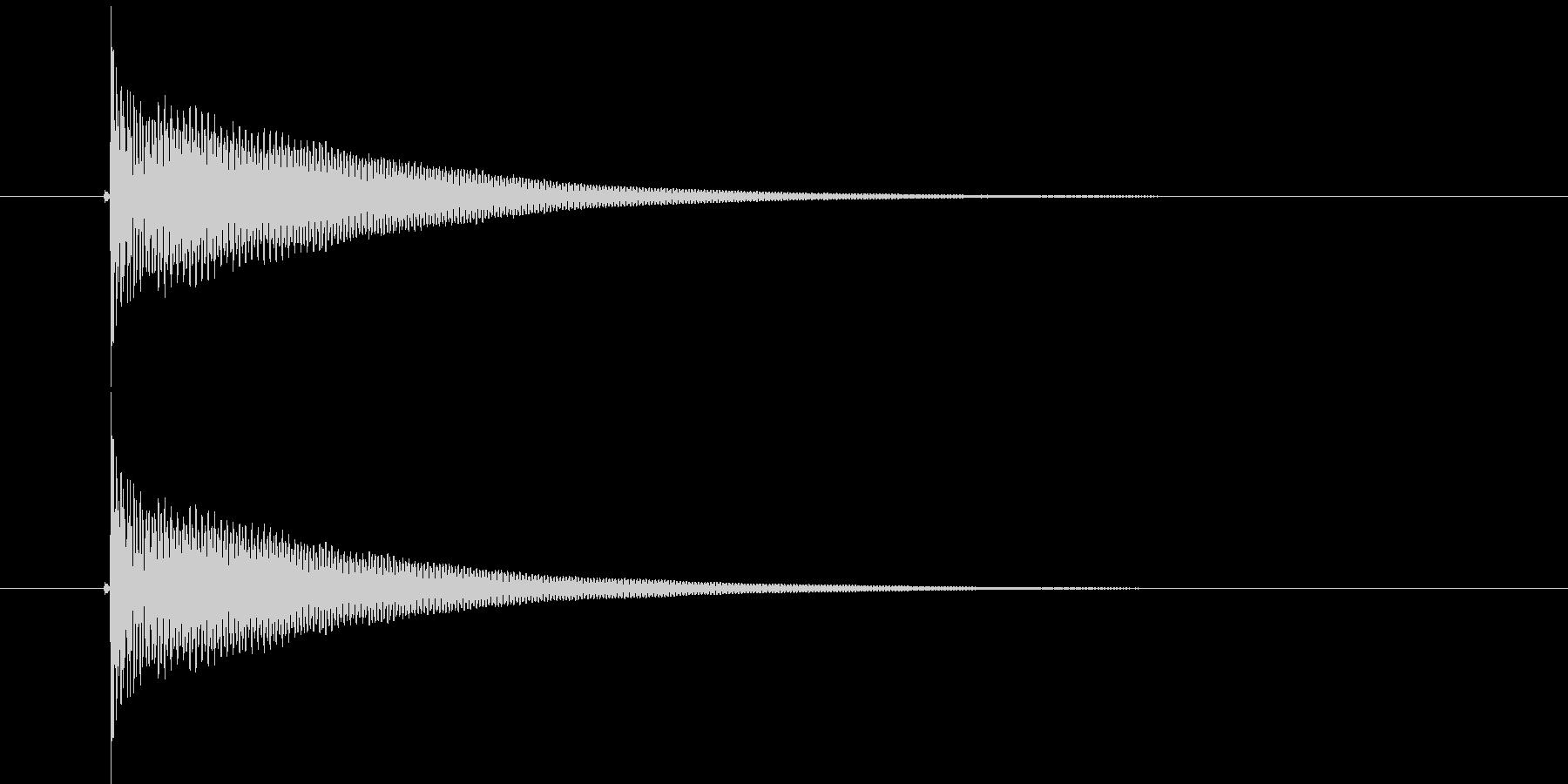 ボットン(落下音、バネの音)の未再生の波形