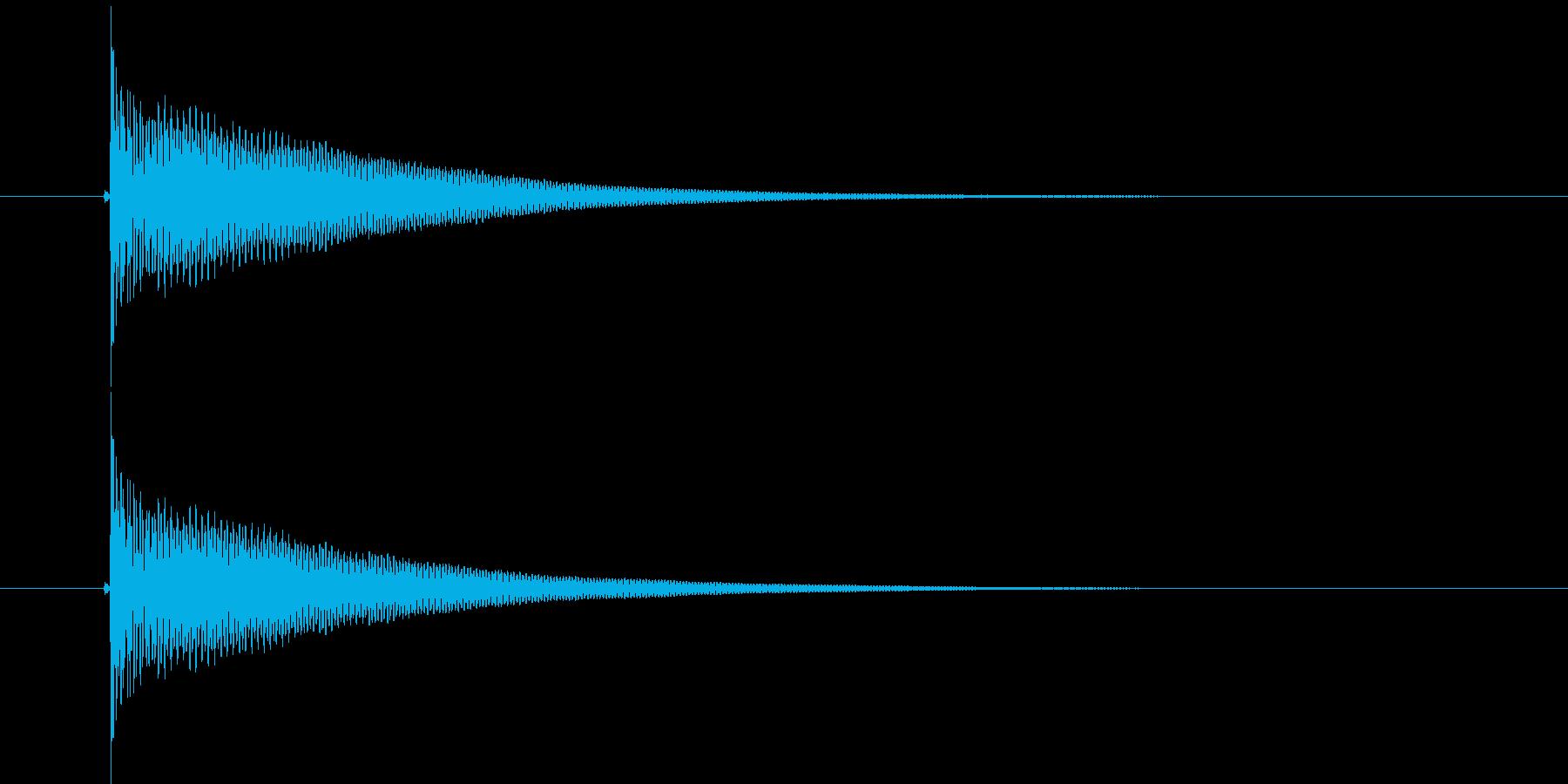 ボットン(落下音、バネの音)の再生済みの波形