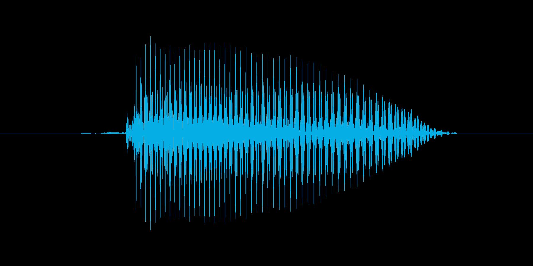 1 (un、 フランス語発音、女性声優)の再生済みの波形