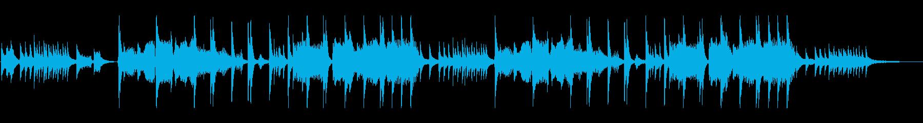琴と笛による雅楽調の和風曲:打楽器ありの再生済みの波形