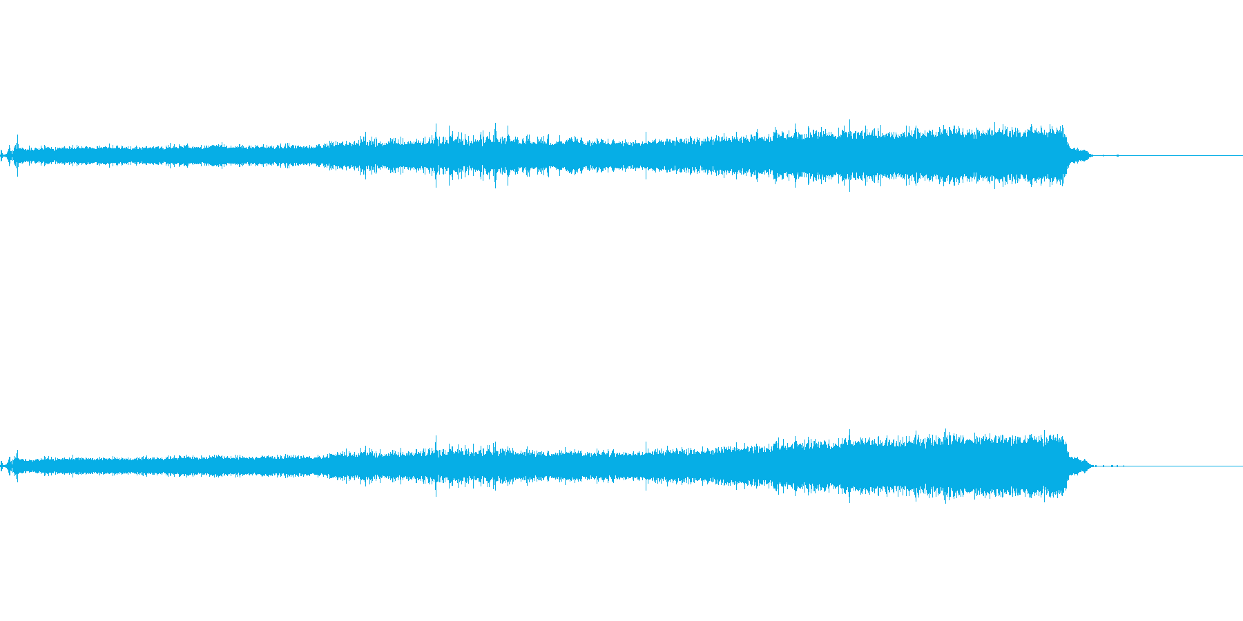 水をいれる音の再生済みの波形