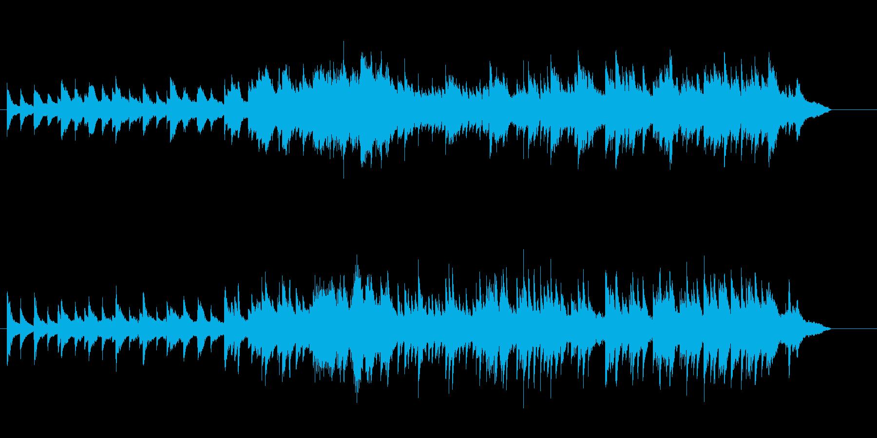 優しいピアノとストリングス曲 映像向けの再生済みの波形