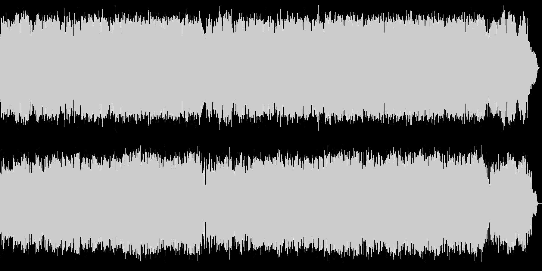 SAXの抒情的で切ないメロとジャズワルツの未再生の波形
