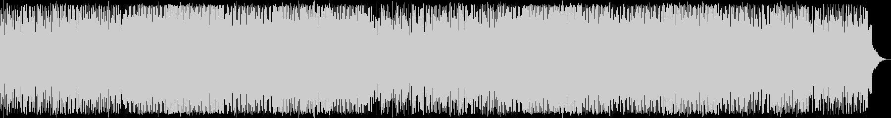 スペイシーなふわっとした変則的なテクノ音の未再生の波形