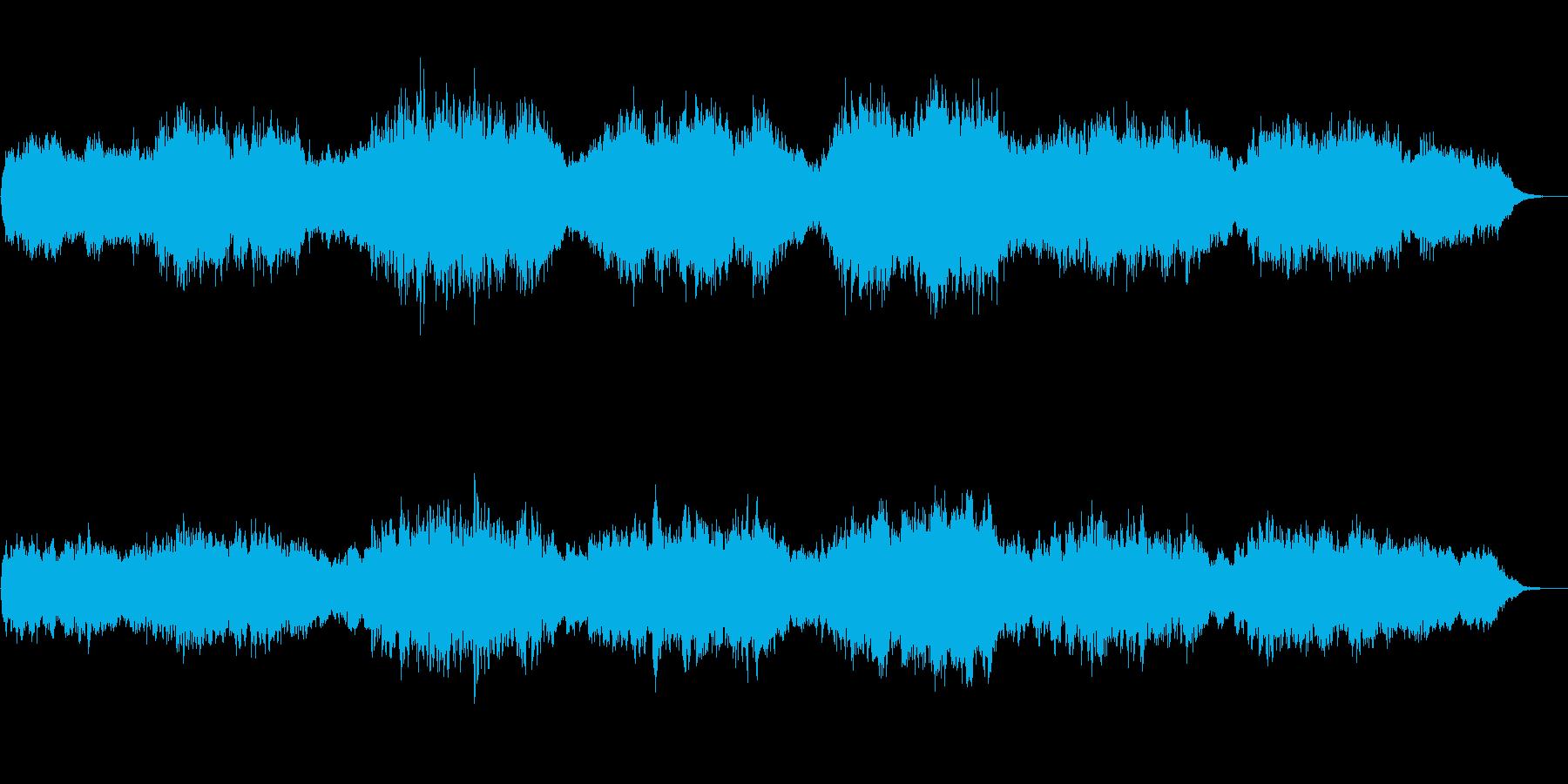 ホーミーを主題としたアンビエントな音風景の再生済みの波形