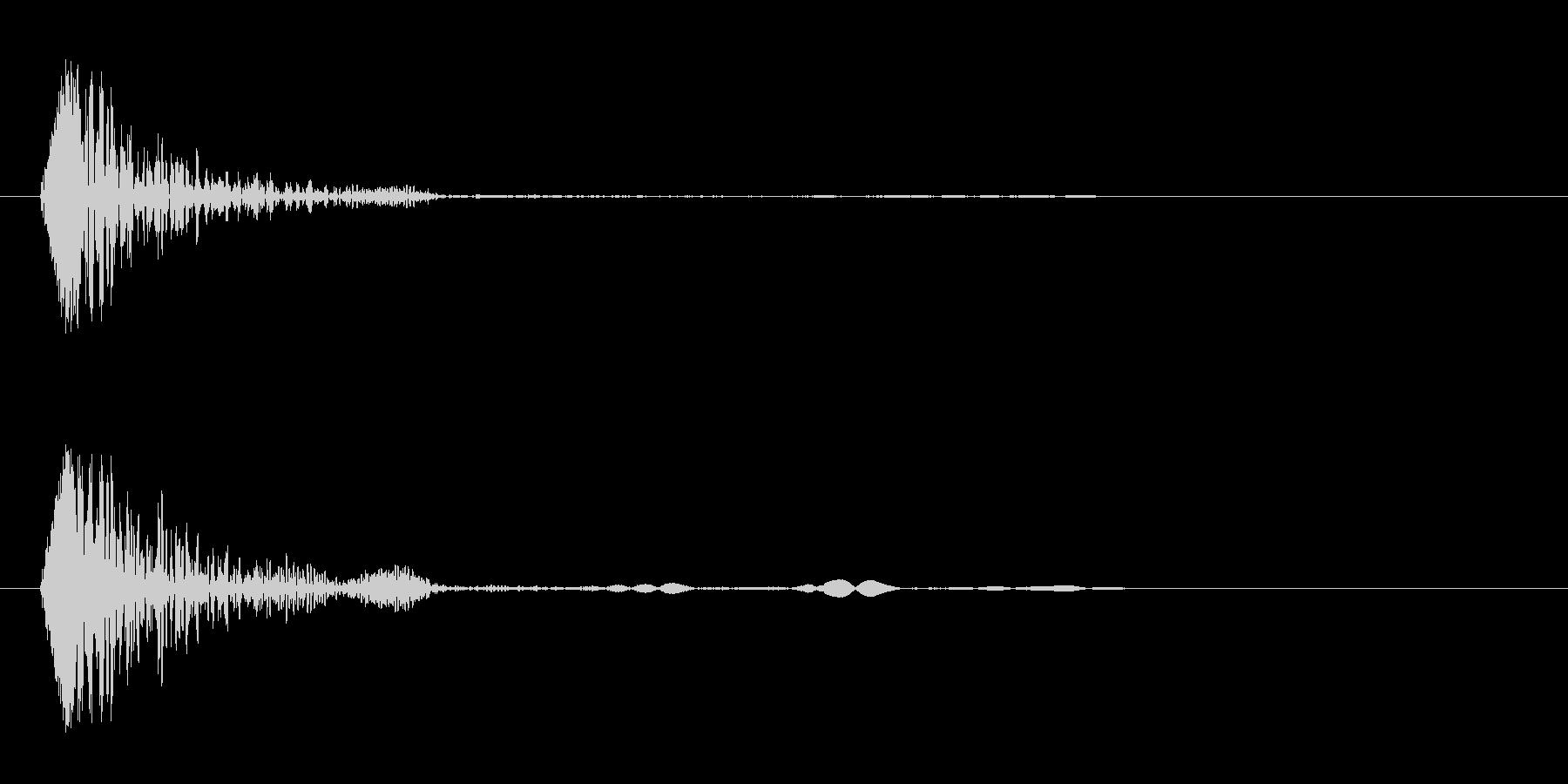 コン(軽いものが当たる音)の未再生の波形