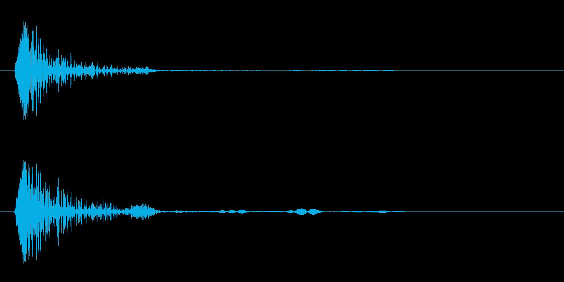 コン(軽いものが当たる音)の再生済みの波形