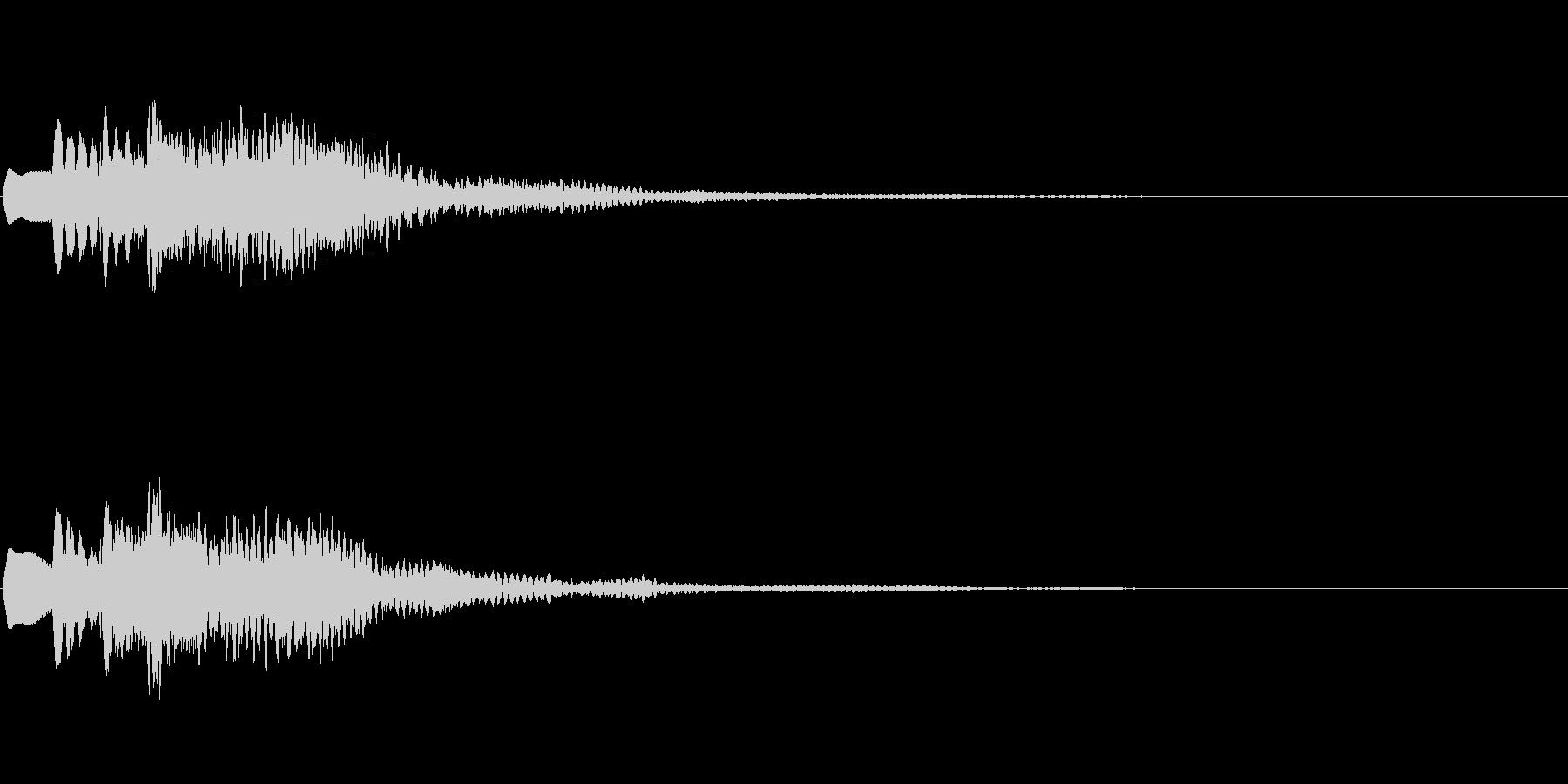 「スッキリした」という音の未再生の波形