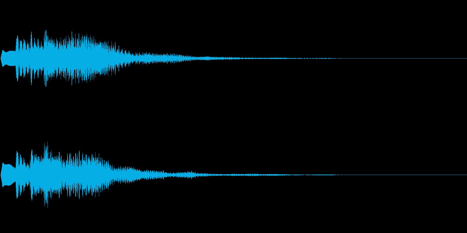 「スッキリした」という音の再生済みの波形