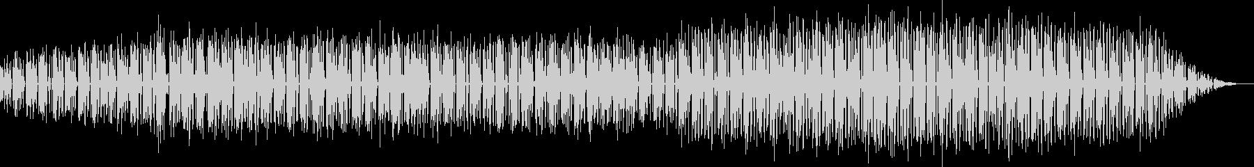 レゲエのリズムによる楽曲の未再生の波形
