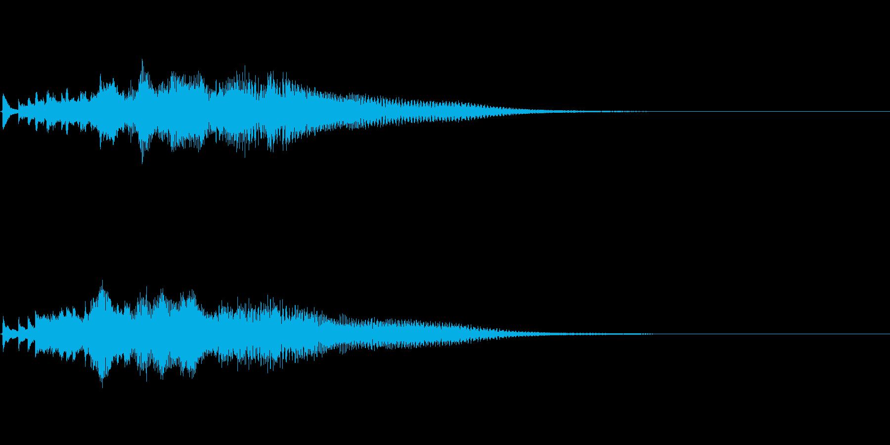 ハープのグリス(下り)を手弾きでピロピロの再生済みの波形