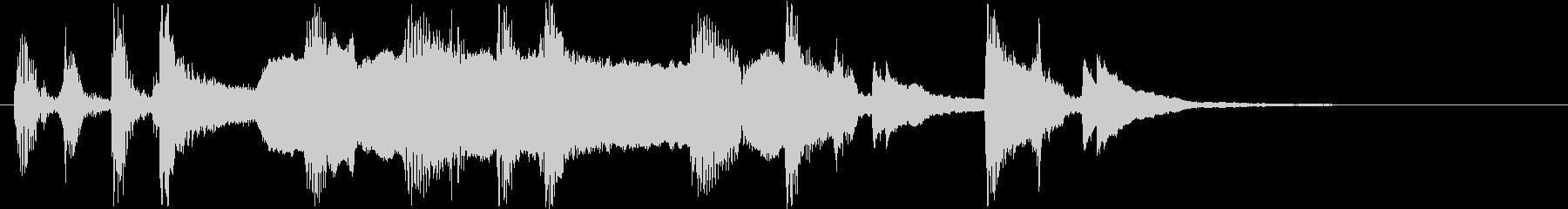 ファンタジーなピアノと笛のサウンドの未再生の波形